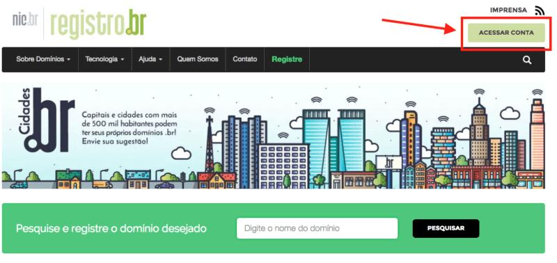 Como criar sua conta grátis no Registro.br para comprar um domínio