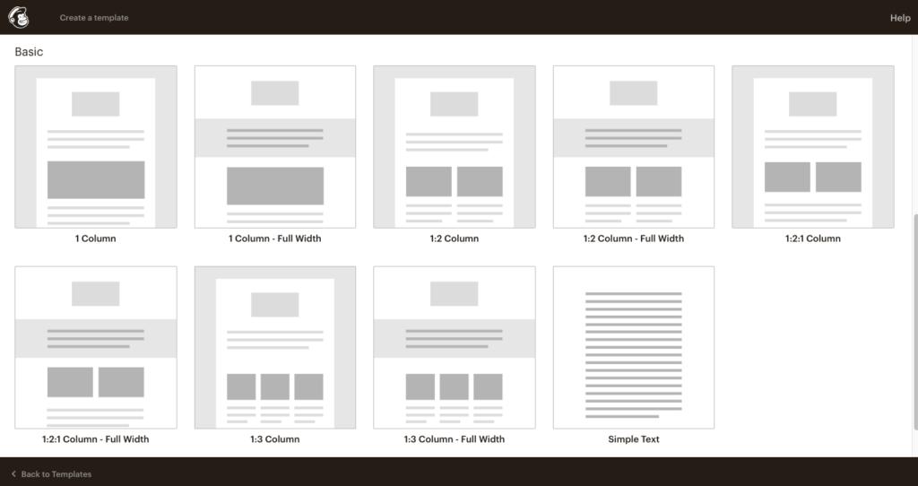 Modelos para layout de e-mail marketing