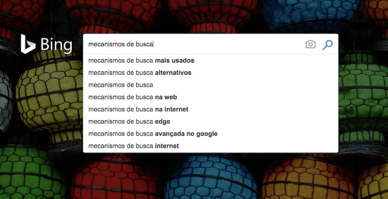 Bing mecanismo de busca