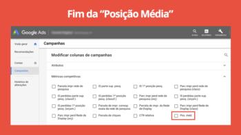 Google Ads acabará com a métrica Posição Média