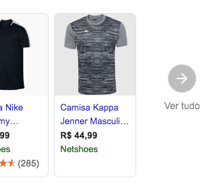 Botão Ver Tudo do Google Shopping