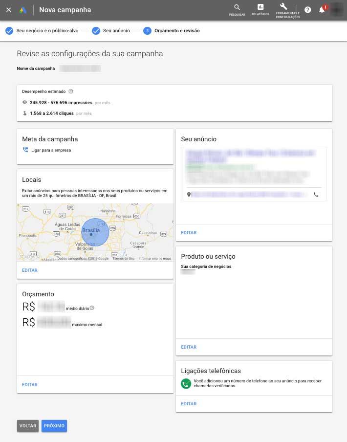 Revise as configurações da sua campanha inteligente no Google Ads
