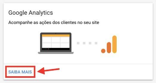 Bloco do Google Analytics no painel de desempenho de campanhas inteligentes no Google Ads