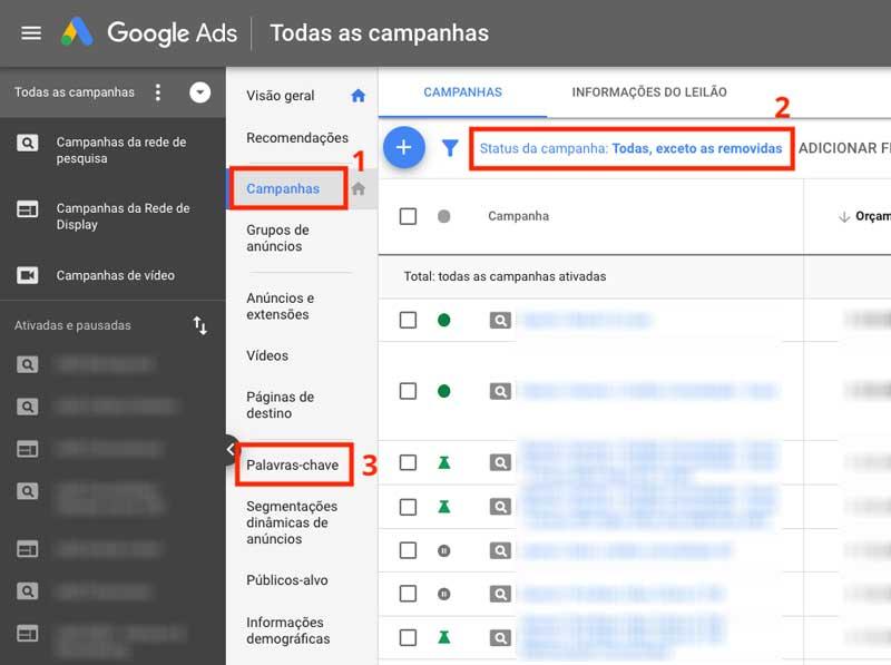 Campanhas Google Ads