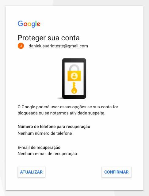 Proteção da conta Google Ads
