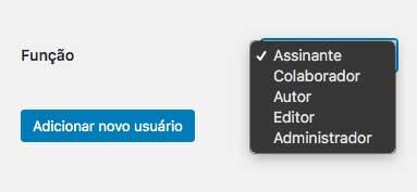 Funções padrão de usuários no WordPress
