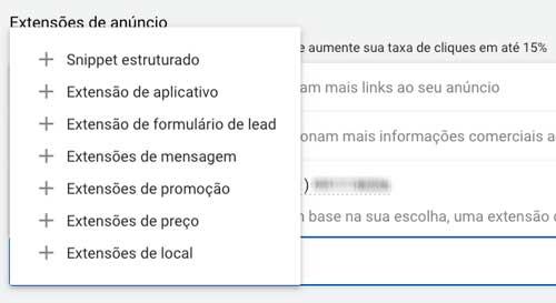 Google ads: tipos de extensão de anúncio