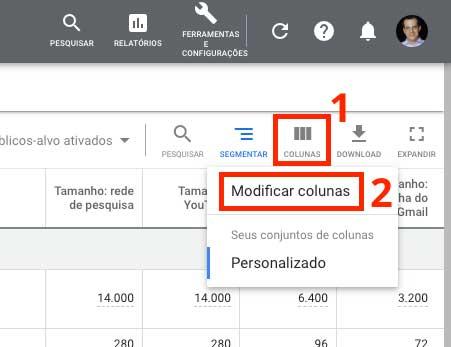 Google ads: como modificar colunas no Gerenciador de públicos-alvo