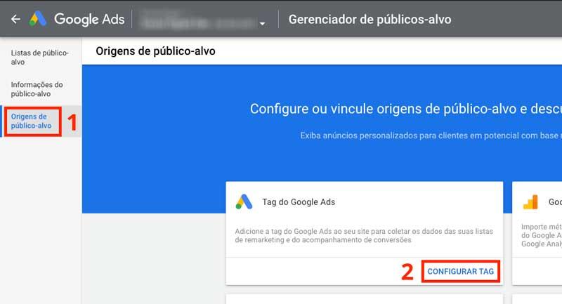 Origens de público-alvo no Google Ads