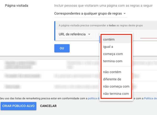 Google ads: filtros de URL para criação de novos públicos-alvo