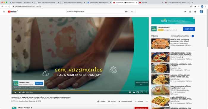 Anúncio de campanha de vídeo do Google Ads