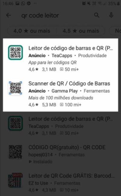 Anúncio de campanha de aplicativo do Google Ads na Google Play
