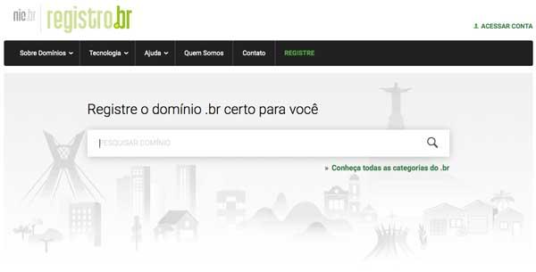 Home do Registro.br